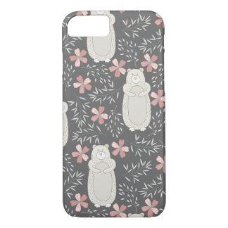 Wonderland Bears & Flowers Pattern iPhone 7 Case