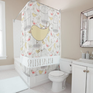 Wonderland Birds and Cages Shower Curtain