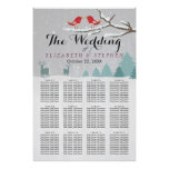 Wonderland Birds Deer Winter Wedding Seating Chart
