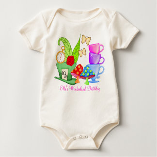 Wonderland Birthday Onsie Baby Bodysuit