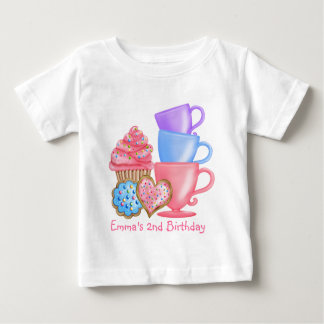 Wonderland  Birthday Tea Party Baby T-Shirt