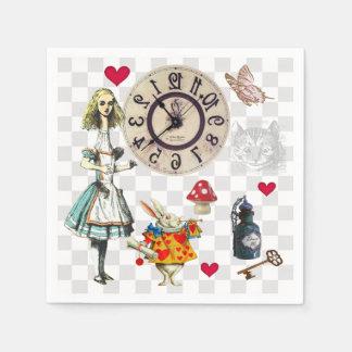 Wonderland Collage Disposable Napkins