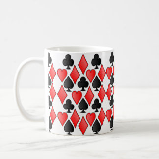 Wonderland Diamond Spade Heart and Club Print Coffee Mug