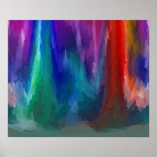 Wonderland Forest Vivid Expressionism Art poster