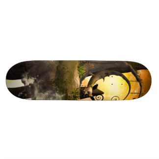 Wonderland in the universe with raven 21.3 cm mini skateboard deck