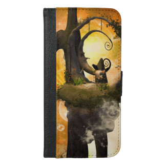 Wonderland in the universe with raven iPhone 6/6s plus wallet case