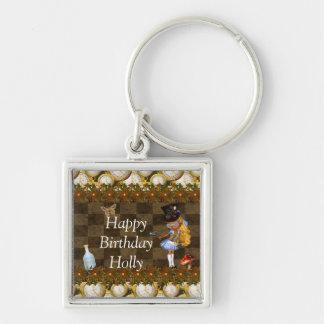 Wonderland Steampunk Birthday Party Key Chain