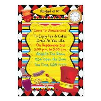 Wonderland Tea Party Birthday Invitation