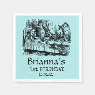 Wonderland Tea Party Birthday Paper Napkin