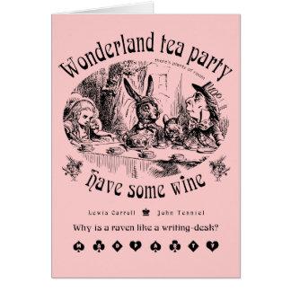 Wonderland tea party Card