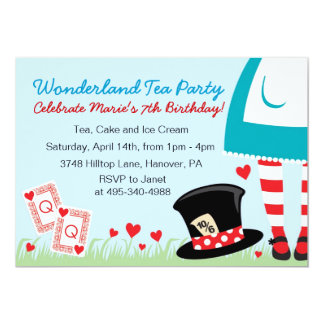 Wonderland Tea Party Invitations