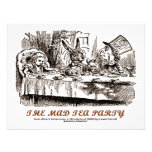 Wonderland The Mad Tea Party Personalised Announcements