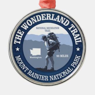 Wonderland Trail (rd) Metal Ornament