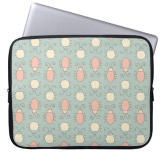 Wonderland Vintage Bugs Pattern Laptop Computer Sleeves