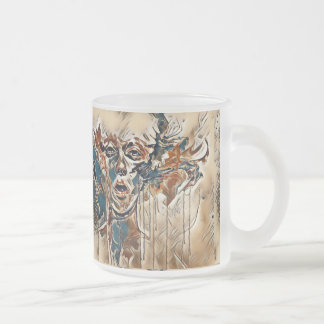 Wonderous Illusion Frosted Glass Mug