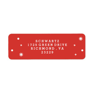 Wonderous Joy Address Label