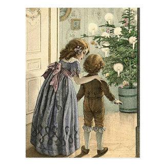 Wonders of Christmas -vintage christmas greeting Postcard