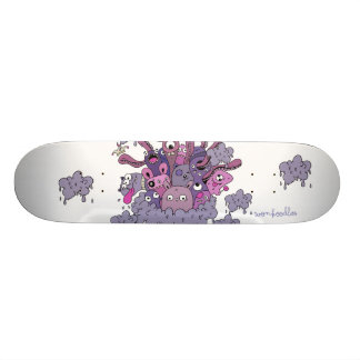 """Wonkoodles """"In the clouds"""" Skate Board"""