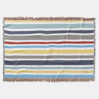 WONZ Limited nautical by shirt to design Throw Blanket