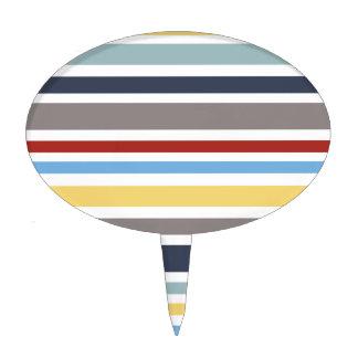 wonz stripes nautical By shirt to design Cake Topper
