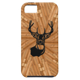 Wood - 3D White Tail Buck Deer iPhone 5 Case