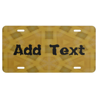 Wood abstract pattern license plate