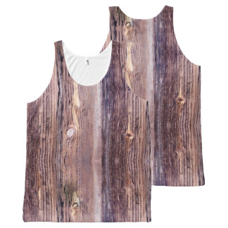 Wood All-Over Print Singlet