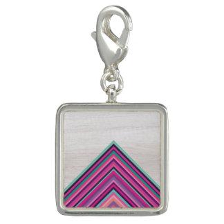 Wood and Bright Stripes, Geometric Bohemian Design