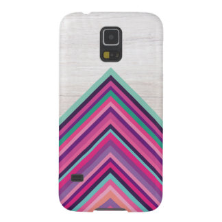 Wood and Bright Stripes, Geometric Bohemian Design Galaxy S5 Cover