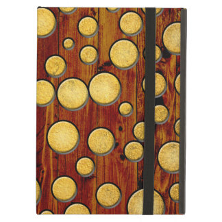 Wood and gold iPad air cover