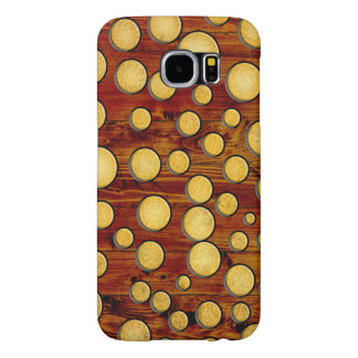 Wood and gold samsung galaxy s6 cases