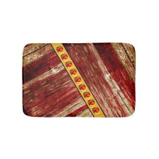 Wood and jewels bath mats