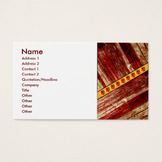 Wood and jewels business card