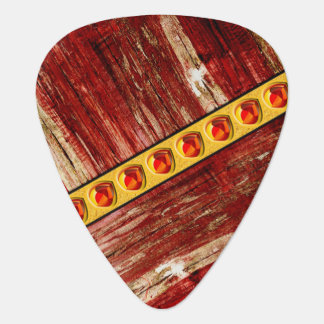 Wood and jewels guitar pick
