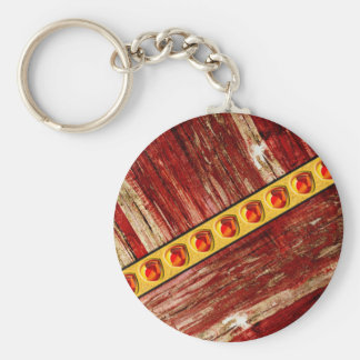 Wood and jewels key ring