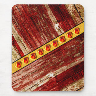 Wood and jewels mouse pad