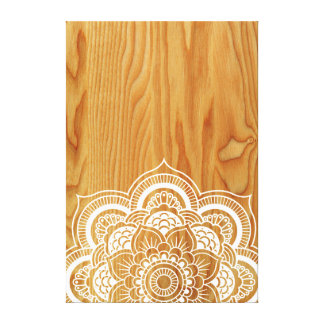 Wood and Mandala Canvas Print