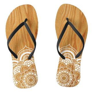 Wood and Mandala Thongs