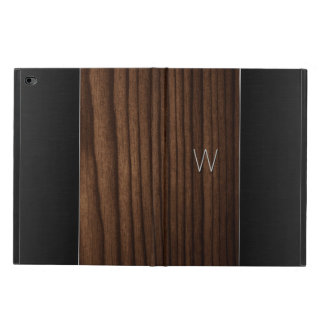 Wood and Metallic Look Monogrammed iPad Air 2 Case