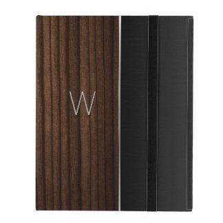 Wood and Metallic Look Monogrammed iPad Case