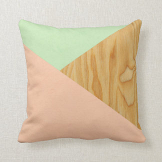 Wood and Pastel Abstract pattern Cushion