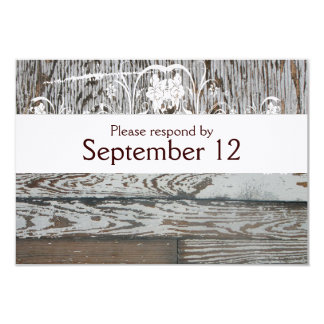 Wood and Wood RSVP with envelopes 9 Cm X 13 Cm Invitation Card