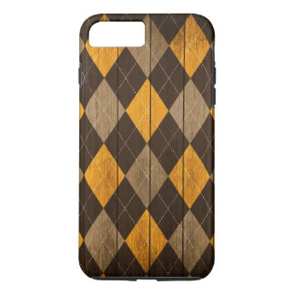 Wood Argyle Pattern Sun Shine (Diamond Pattern) iPhone 8 Plus/7 Plus Case