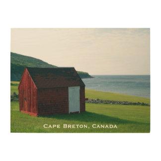Wood Art Print 3 | Red Shack on Cape Breton Island Wood Prints