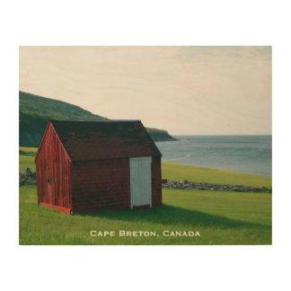 Wood Art Print | Red Shack on Cape Breton Island Wood Prints