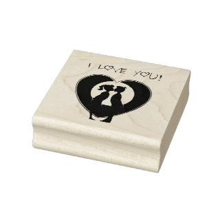 Wood Art Stamps/I Love You Rubber Stamp