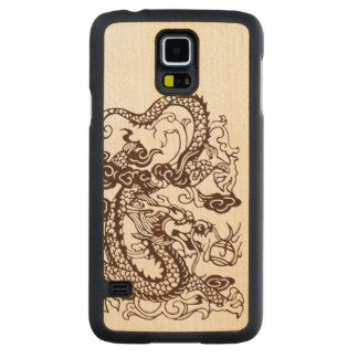 Wood Asian Chinese Imperial Dragon Maple Galaxy S5 Case