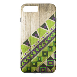 Wood Aztec Pattern Green iPhone 8 Plus/7 Plus Case