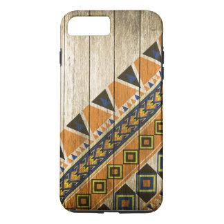 Wood Aztec Pattern Orange iPhone 8 Plus/7 Plus Case