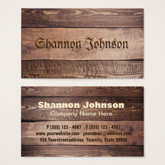 Wood Background Business Card